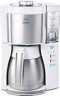 Melitta 1025-17 过滤式咖啡机 带热水壶和定时功能 1080,可拆卸水箱和除垢程序 1.25 升 白色 外观 V 定时器