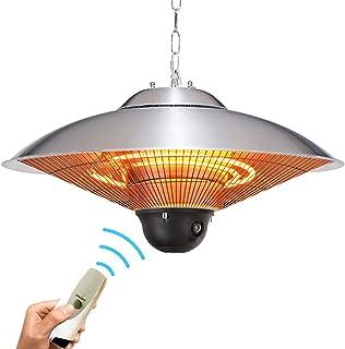 Raoccuy 庭院电暖器户外天花板 – 1500W 庭院取暖器,红外线加热器,电子户外加热器,户外空间取暖器,便携式加热器,碳红外线加热器,室内户外