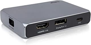 CalDigit USB-C Gen 2 SOHO 扩展坞,10 Gbps - 高达4K 60 Hz,HDMI 2.0b,DisplayPort 1.4,10 Gbit USB A和USB C,UHS-II Micro SD和SD读卡器,直通充...