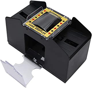 扑克牌洗牌机 自动扑克牌洗牌机 适用于 Blackjack、扑克牌、Bridge 1 至 4 扑克牌