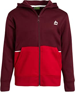 RBX 男孩运动运动衫 - 羊毛拉链连帽衫