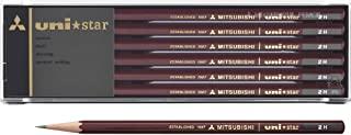 MITSUBISHI 三菱铅笔 铅笔 uni star 系列 2H 1打12支 US2H