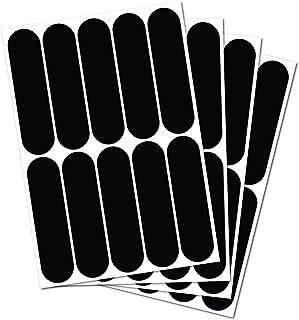 B REFLECTIVE. (4 件装) 10 个复古反光贴纸套件夜间可见*。适用于自行车/婴儿车/越野车/头盔/摩托车/滑板车/玩具的通用粘合剂。 7 x 0.75 英寸黑色
