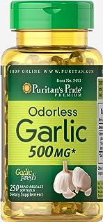 Puritan's Pride 无味大蒜 500 毫克 - 250 粒软胶囊