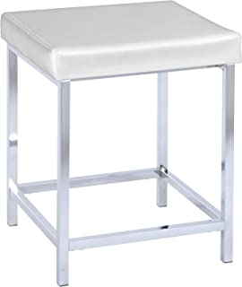 "Wenko""豪华方形浴室凳,白色"