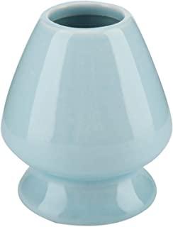 Buachois 打蛋架陶瓷 Chasen 支架 3.52 英寸(约 8.9 厘米)竹制茶具配件 日本茶具仪式(蓝色)