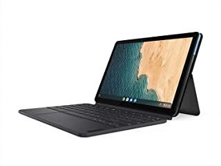 Lenovo 联想 Chromebook Duet 2合1笔记本电脑,10.1英寸(约25.65厘米)WUXGA(1920 x 1200)显示屏,联发科技Helio P60T,4GB LPDDR4X RAM,128GB eMCP SSD,集成A...
