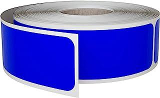 皇家*矩形标签 2.54 x 7.62 厘米,可书写各种彩色贴纸用于标记 250 蓝色