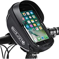 AUTOWT 自行车手机前框袋,防水自行车手机支架包自行车顶部管车把包敏感触摸屏保护套适用于 iPhone 7 8 Pl…
