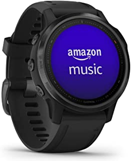 GARMIN 佳明 fēnix 6S Pro Ultimate多功能GPS运动手表,具有地图,音乐,等级可调的步速监控和Pulse Ox血氧传感器,Black with Black Band,S