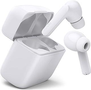 SENSO PODS Plus 无线耳塞运动蓝牙耳机耳塞耳机带触摸控制和 USB-C 充电耳机,带麦克风和音量控制,白色
