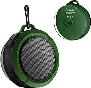 Acuvar 无线防水可充电淋浴扬声器带吸盘,内置麦克风,媒体控制按钮NA