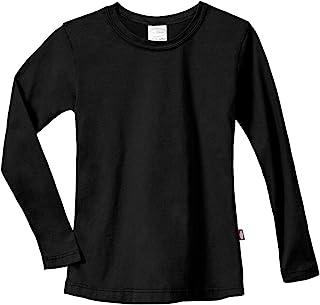 City Threads 女童棉质长袖 T 恤 适合上学和休闲穿着 美国制造