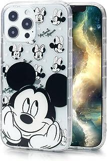 Max-ABC 兼容 iPhone Pro 黑耳朵米老鼠保护套男孩女士儿童可爱卡通超薄凝胶橡胶缓冲软TPU保护透明手机壳,黑色