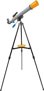 Discovery Adventures 50 毫米入门级儿童望远镜,带水平转角接口和高度可调的三脚架,含目镜、天顶镜和 LED 取景器