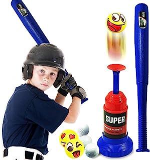 CozyBomB 儿童棒球 T 恤玩具套装 - 幼儿 T 球棒套装带 Tall 投球机 - 适合 3 岁 4 5 6 7 岁男孩和女孩的后院玩具女孩的礼物