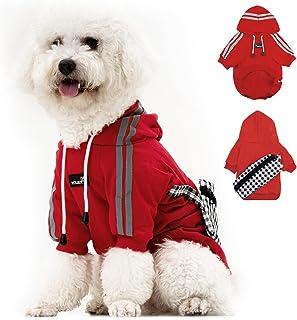狗狗连帽衫宠物服装,猫连帽运动衫 适合小狗 小号 中号 大号 狗(红色,XXXL 码)