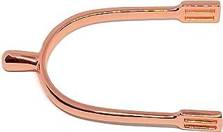 弗吉尼亚鞍具玫瑰金英式马刺圆形旋钮