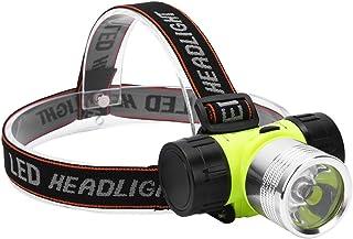OhhGo 潜水头灯,LED 大功率明亮防水头灯水下潜水大灯手电筒,2500mah AA 电池(不含)