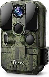 BZK 2020 年*新 20MP 1080P 越野游戏高清防水摄像头 - 狩猎相机带运动激活夜视和 120° 广角镜头,用于野生动物观察,庭院监控