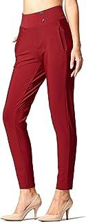 Conceited 优质女式弹力正装长裤 - 修身靴型 - 全天舒适 纯色 Pinstripes 出品