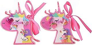 WECTORY 儿童戒指 女孩戒指 无重复 儿童珠宝戒指 套装 带小马形状展示盒 儿童或女孩装扮 礼物 10 件(2 件装)