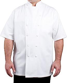 CAYSON DESIGNS 短袖行政厨师外套,尺码 XS - 5XL