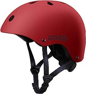 OutdoorMaster 儿童滑板自行车头盔 - CPSC 认证可调节多运动头盔,带可拆卸衬垫,适用于滑板滑冰滑板车滚轴