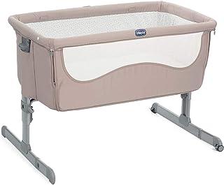 Chicco Next2Me 床边婴儿小鸡到小鸡 - 共眠婴儿床,带床垫,可拆卸侧面,可调节高度,网眼窗口,车轮和旅行袋 - 0-6 个月,9 千克