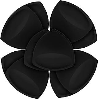 FANMAOUS 5 双女式三角文胸衬垫插入可拆卸聚拢运动文胸罩杯替换比基尼上衣泳衣