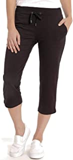 Eddie Bauer 女士法国厚绒布七分裤 黑色 XL 码