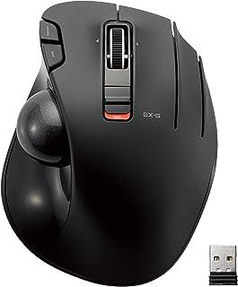 ELECOM 宜丽客 鼠标 无线(接收器附件)轨迹球 6按钮 黑色 M-XT3DRBK