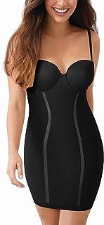 Maidenform Flexees 女式塑身内衣,无肩带 黑色//白色 34C