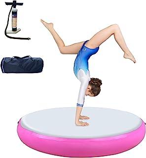 Air Track 体操垫系列空气滚轮空气块充气垫子,滚筒轨道体操设备适用于健身房家庭使用训练啦啦队瑜伽