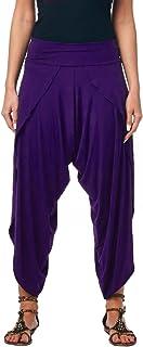 Popana 女式休闲夏季波西米亚风哈伦慢跑裤高音多口袋美国制造