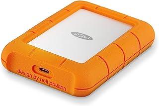 LaCie 莱斯 Rugged USB-C 5 TB外置硬盘便携式硬盘 - USB 3.0,跌落防尘防雨穿梭驱动器,适用于 Mac 和 PC 电脑台式工作站笔记本电脑,1 个月Adobe CC(STFR5000800)