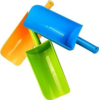 Aokzon 儿童户外沙滩铲儿童短柄沙铲塑料沙滩铲儿童沙滩玩具适合铲沙雪沙滩铲儿童铲 3 件装
