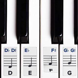 钥匙钢琴贴纸 - 可拆式双层涂层适用于 49/61 / 76/88 键盘