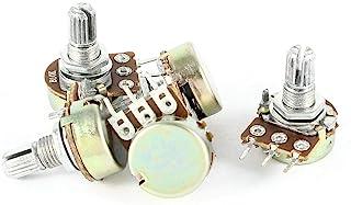 5 件 10K OHM 3 端子线性锥形旋转音频 B 型电位器