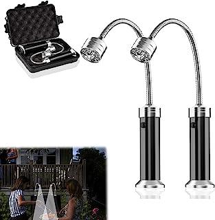 2 件烧烤灯,适用于烧烤,磁性底座烧烤灯 360 度柔性鹅颈烧烤灯,便携式防风雨户外灯烧烤配件,适用于户外烧烤