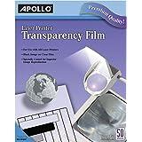 Apollo 激光喷气打印机和复印透明膜,50 张 黑色 透明