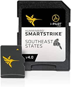Humminbird SmartStrike 东南部国家版数字 GPS 湖地图 Micro SD 卡 4 版 黑色