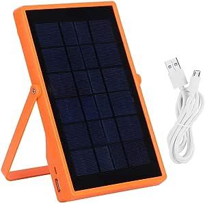 便携式太阳能应急灯 USB 可充电应急灯 帐篷阅读灯 汽车应急灯 带四齿轮触摸控制 可充电电池 适用于室内或室外