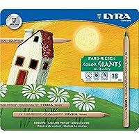 德国 LYRA 艺雅 6.25mm加粗笔芯6色大粗杆金属色彩色铅笔L3941062
