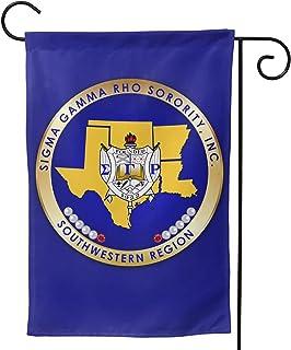 HSBHSJ Sigma Gamma Rho 旗帜双面垂直派对横幅旗帜露台草坪家居户外装饰 12x18 英寸