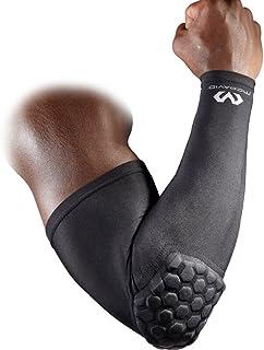 Mcdavid 6500 六角软垫袖套 带肘部护套 适用于足球、排球、棒球保护、青少年和成人尺寸 单个出售(1 个套)