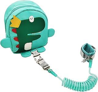 Accenture 可爱恐龙幼儿*背包,带钥匙锁,一包三种用途,包括幼儿皮带、*背包和腕带,适合 1-5 岁到公园、动物园。