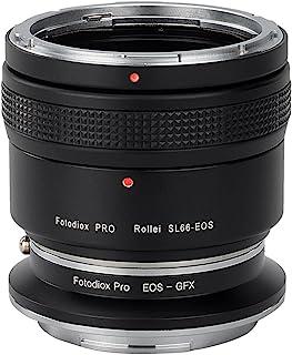 Fotodiox 专业镜头安装双适配器 Rolleiflex SL66 系列和 Canon EOS (EF/EF-S) D/SLR 镜片到 GFX 50S G 型安装中式无镜像相机