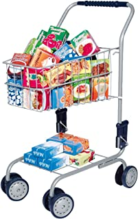 Bayer Design 购物车,带不同玩具食品盒,手部高度 58 厘米