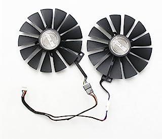 新款显卡散热风扇适用于 ASUS 华硕 DUAL-RX580-8G Strix RX570/RX580 GTX1050Ti 95mm 4pin